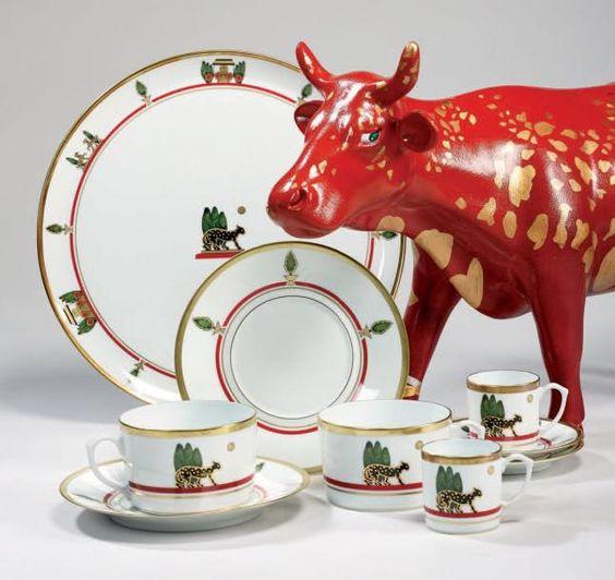 Cartier maison v nitienne service en porcelaine de limoges 1989 - Maison de porcelaine ...