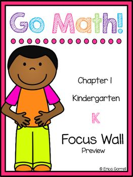 I have finally finished my Kindergarten Go Math! Focus Wall for Chapter 1! This is a preview so that you are aware of what you are purchasing. If you are interested in the full chapter, please check out my store. I am also adding chapter 1 to a growing bundle which is 50% off currently in my store!