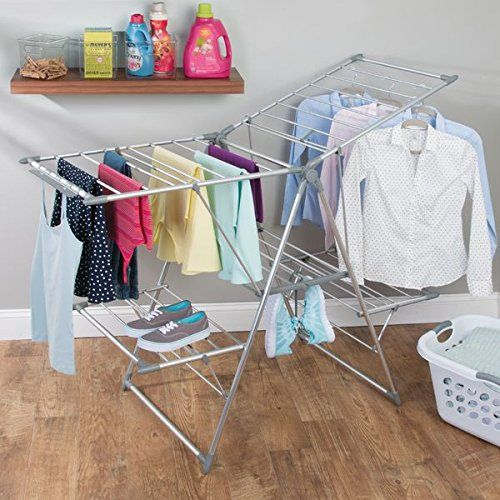 Mdesign 5 Shelf Expandable Drying Rack Collapsible Clothes