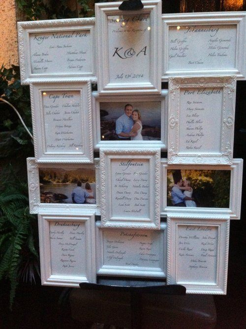 wedding seating chart picture frames - 28 images - 40 best mirror ...