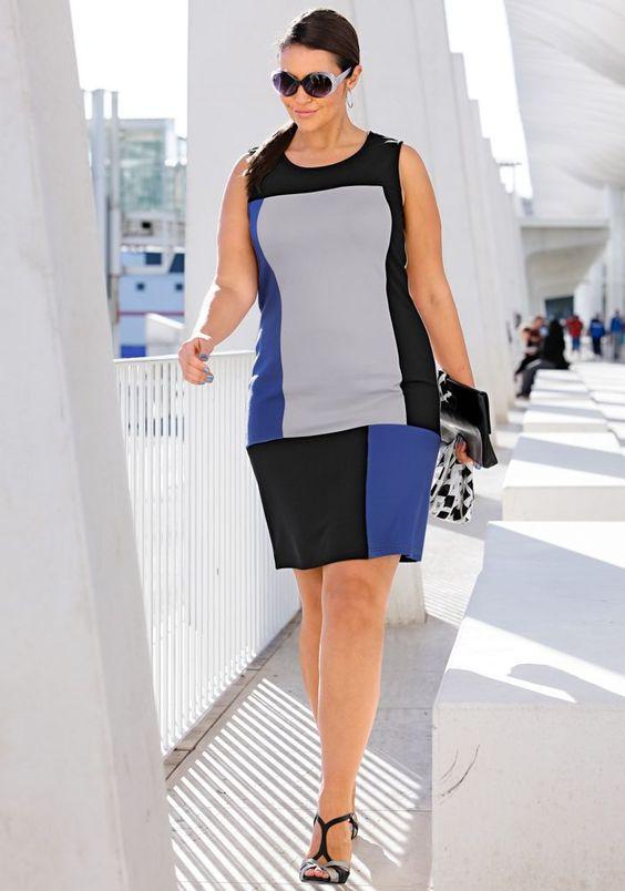 Schickes Etuikleid mit Elasthan #sheegostyle #plussize #fashion