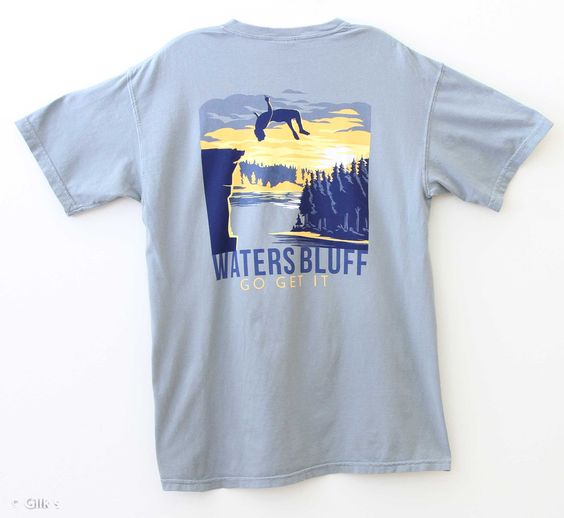 Waters Bluff Flippin' Out T-Shirt for Men in Grey SSTFO