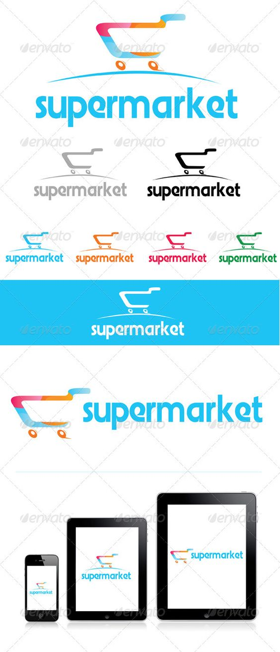 My Supermarket | Logos, Fonts and Shopping Grocery Store Logos Free