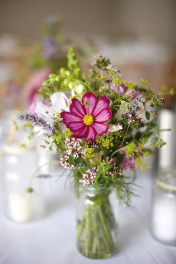 pretty! Love garden flower arrangements