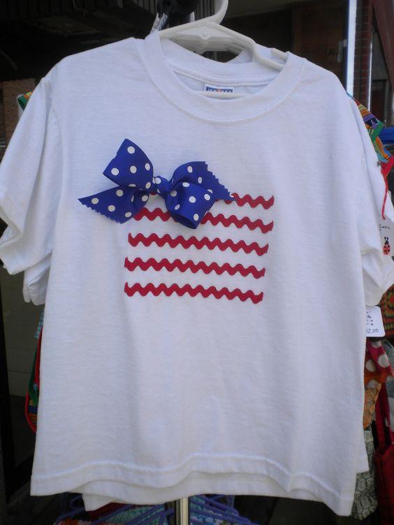 Girls Patriotic Tshirt. $15.00, via Etsy.