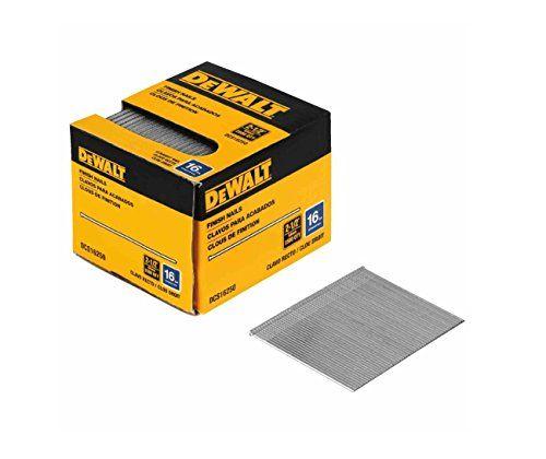 Dewalt Dcs16200 2 Inch By 16 Gauge Finish Nail 2 500 Per Box Air Tools Finishing Nails Gauges