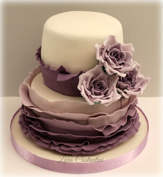 ....frill and roses....