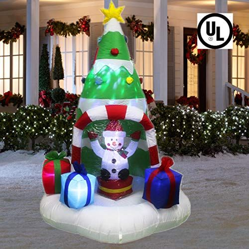 Inflatable Christmas decorations with lights