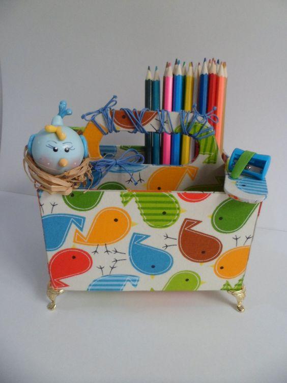 Porta lápis de mesa - organizador