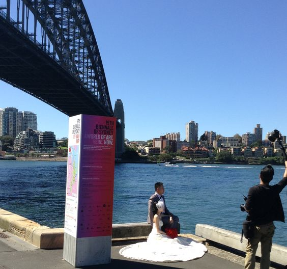 Another Asian couple tying the knot on Sydney Harbour!! Good luck guys xxx