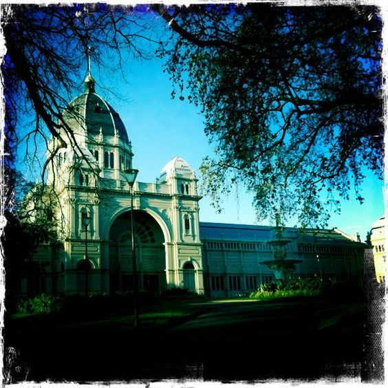 Exhibition Buildings, Melbourne, Australia- I like the modern abstract rear of the building too.