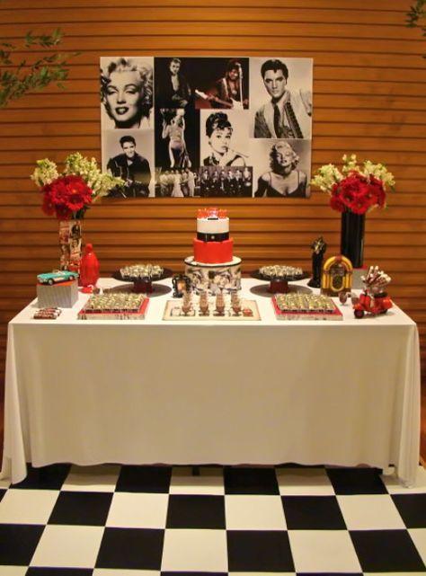 Festa Retrô - anos 50 - Invento festa                              …