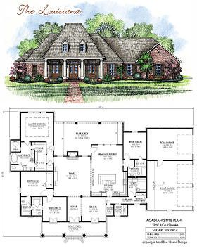 Acadian house plans french country house plans and madden for Louisiana home plans designs