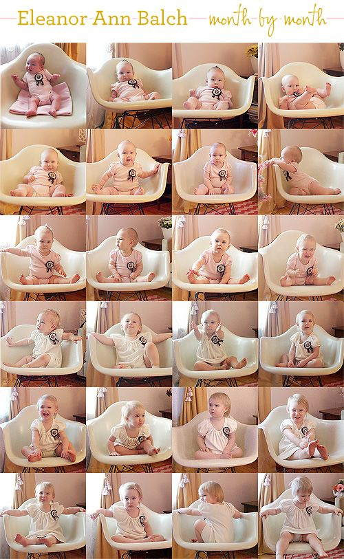 Monthly Baby Pictures-wish I did this
