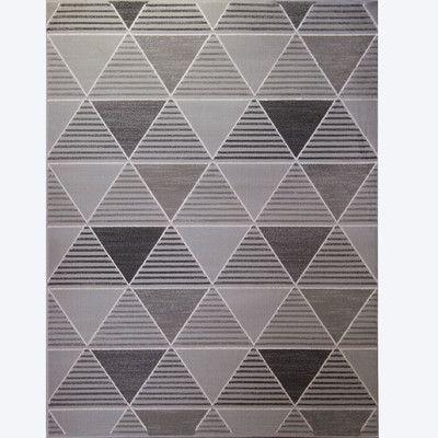 Varick Gallery Sanderlin Gray Area Rug Rug Size:
