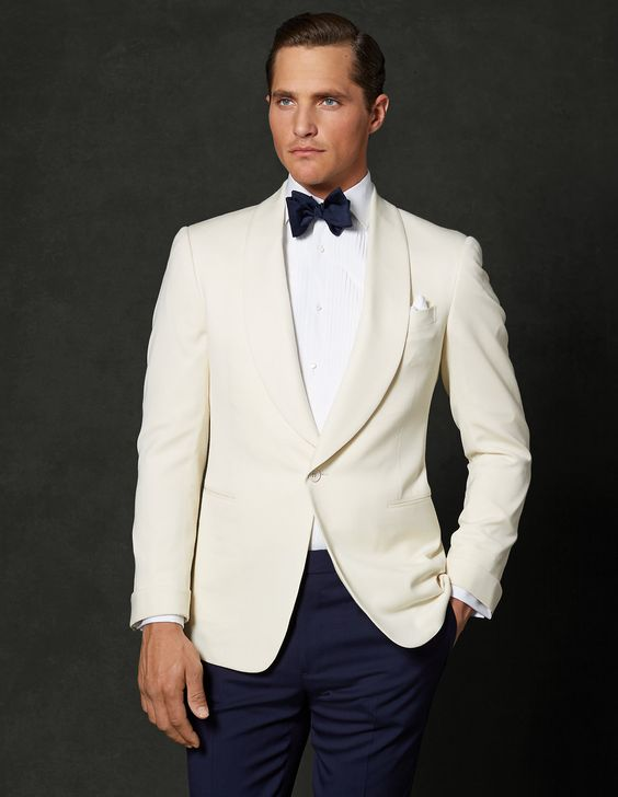 Sophisticated formal jacket from Ralph Lauren\u0026#39;s Purple Label with \u0026quot;elegant shawl collar and sleek silhouette