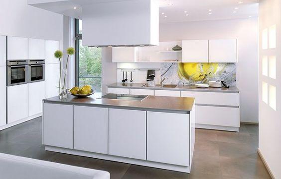 Grifflose Küche   Kitchen   Pinterest   Küche, Bodenbelag Und Haushalte