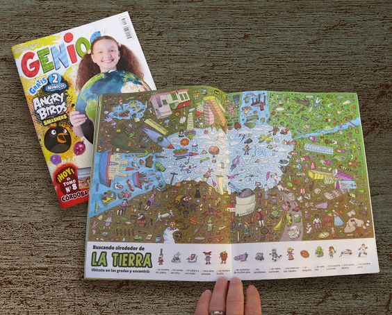 Ilustrador Alexiev Gandman: Buscando dentro del planeta - Revista Genios 837