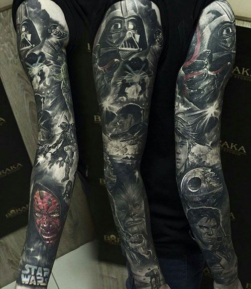 125 Best Sleeve Tattoos For Men Cool Ideas Designs 2020 Guide Star Wars Tattoo Sleeve Tattoo Sleeve Men Best Sleeve Tattoos