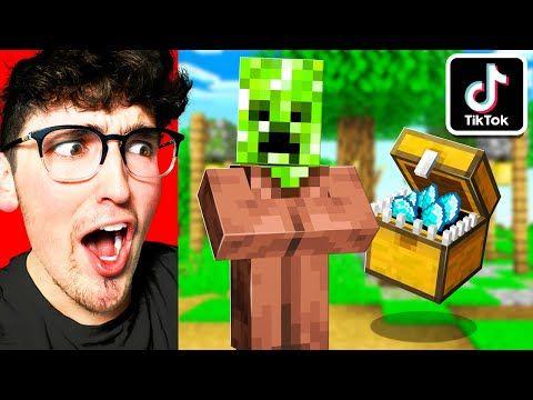 I Tried Viral Tiktok Minecraft Hacks That Work Youtube Minecraft Tips Minecraft Minecraft Creations