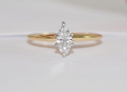 Marquise Diamond Solitaire 75 Ct 14k Gold Solitaire Diamond Solitaire Rings Diamond Ring Diamond