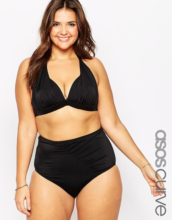 ASOS CURVE Mix & Match Sexy Halter Top with Support