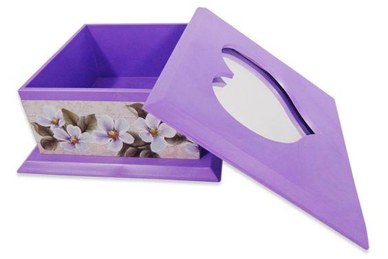 Caixinha com espelho, feito de de plastico e forrado com detalhes bem bonitos  Cor: Lilas (Aberto)  Mais produtos no nosso site: www.s2store.com.br