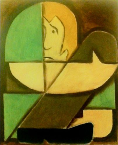 Shaggy Scooby Doo Cubism Painting by Tommervik