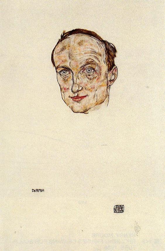 Head of Dr. Fritsch * 1917 Egon Schiele,