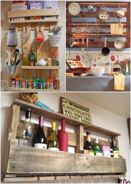 14 Estantes de cocina con palets