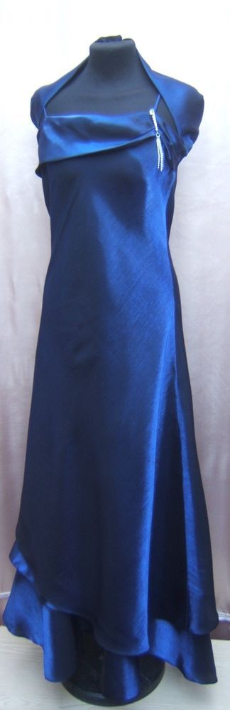 BRIDESMAID DRESS LAYERED-NAVY BLUE   SIZE 6  TO 24/26