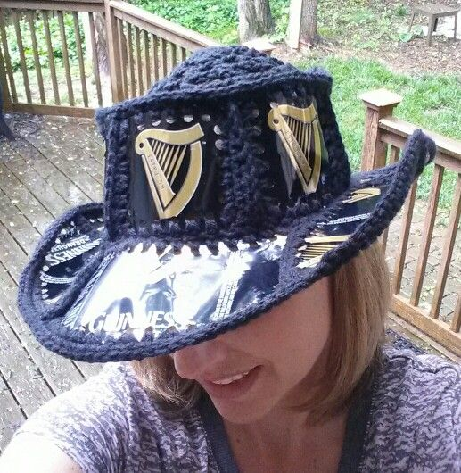 Crochet Beer Can Cowboy Hat Pattern : Beer can crochet hat Fishlipsthemadhatter on facebook ...