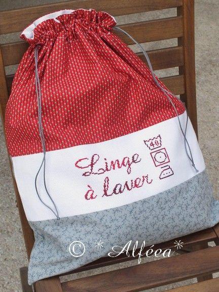 Linge laver bolsas bolsos bags 2 pinterest rouge - Fabriquer un panier a linge ...