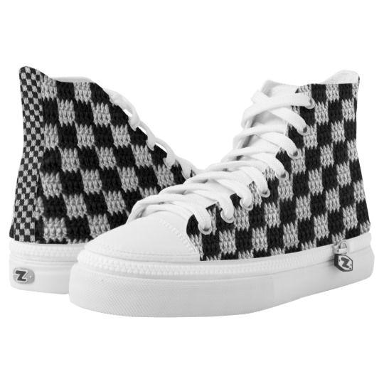black and white checkered converse