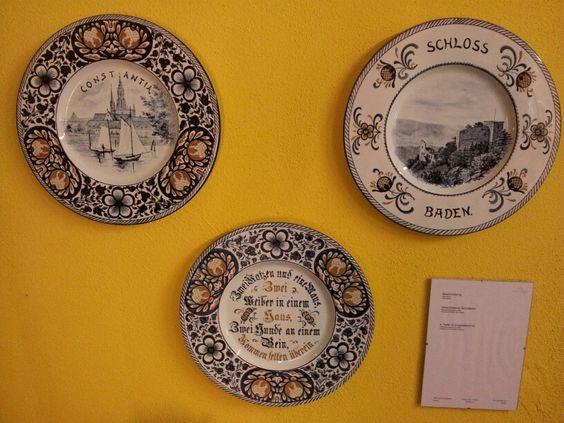 Zeller Keramik museum wandborden eind 19e eeuw.