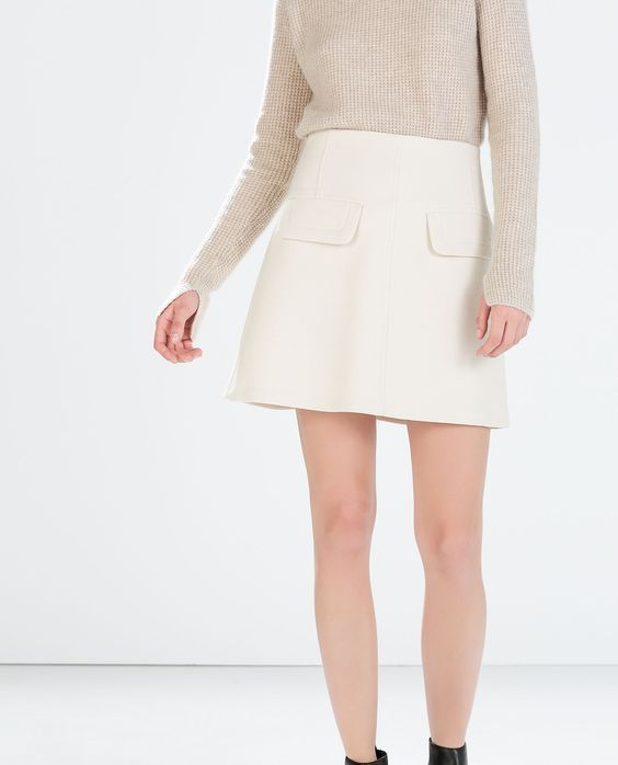 Image 2 of A-LINE MINISKIRT WITH ZIPPED POCKETS from Zara