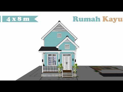 Desain Rumah Kayu Mungil 4 X 8 M Tiny House Design Youtube Di 2021 Desain Rumah Kecil Desain Rumah Rumah Kayu