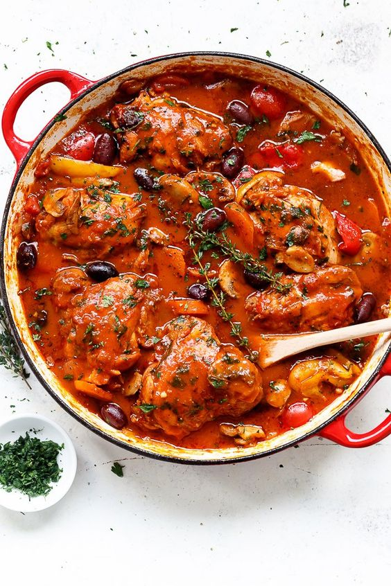 Chicken Cacciatore | Recipe | Dr. oz, Red peppers and Comfort foods