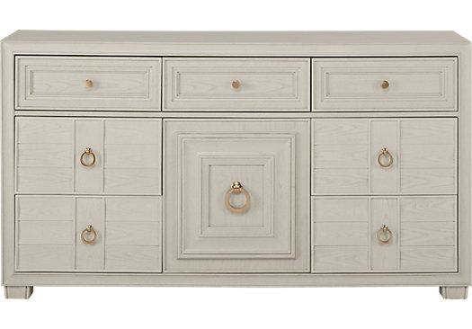 Cindy Crawford Home Michigan Avenue Cream Dresser. $799.99. 40W x 18D x 36.5H. Find affordable Dressers for your home that will complement the rest of your furniture.