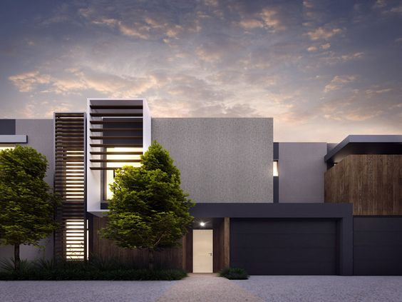 Cotery townhouse contemporary facade design home for Townhouse architectural styles