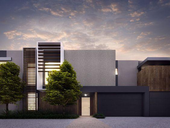 Cotery townhouse contemporary facade design home for Small house facade ideas