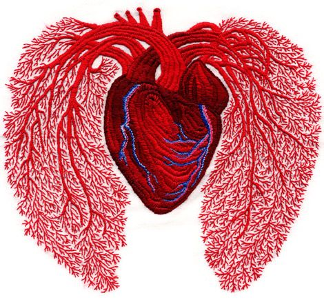 Heart Embroidery by Andrea Dezso (Transylvanian-born artist).  BEAUTIFUL.