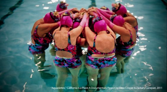 """In this photo: """"Aquadettes"""" from 'California is a place: A Documentary Project' by Drea Cooper & Zackary Canepari - included in the Califas Festival art show."""