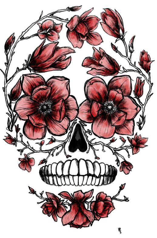 Watercolors, I am and Flower skull on Pinterest