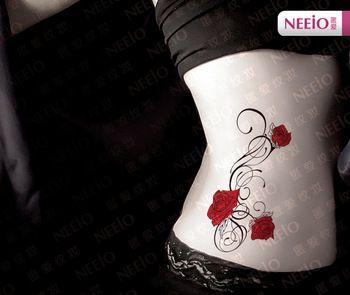 Nat093 neeio Fantasie rot stieg reben tätowierung für taille hüfte bein Bauch frauen, frauen wasserdicht sex produkte tattoo aufkleber in ANI010 Neeio Exotic Indian Lotus Flower Tattoo Henna Tattoos for Female Back Abdomen Waist Waterproof Sexy Tattoo Sticke aus Temporäre Tattoos auf AliExpress.com | Alibaba Group