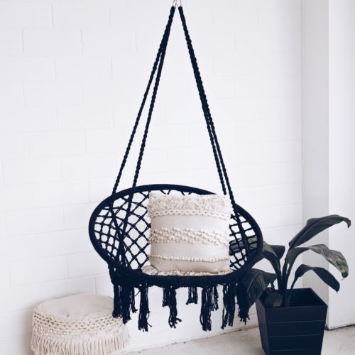 Incredible Details About Macrame Hammock Chair Swing Relax In Luxury Pabps2019 Chair Design Images Pabps2019Com