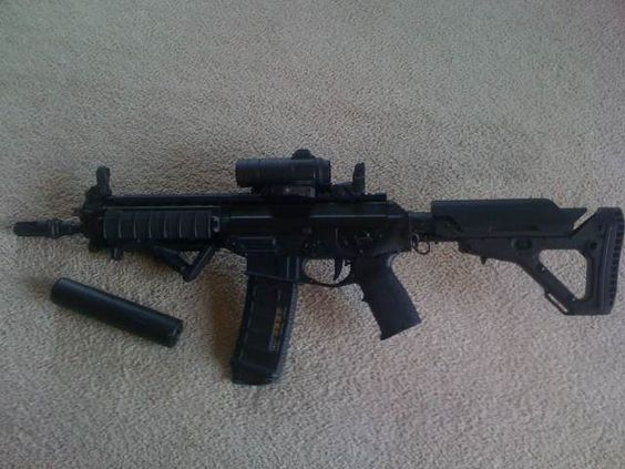 This is my Rifle...Sig 556 Short Barrel Rifle...Magpul UBR ...