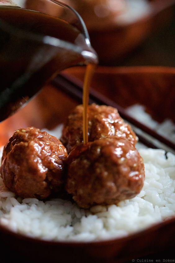 Boulettes de viande, sauce teriyaki  | Cuisine en scène - CotéMaison.fr