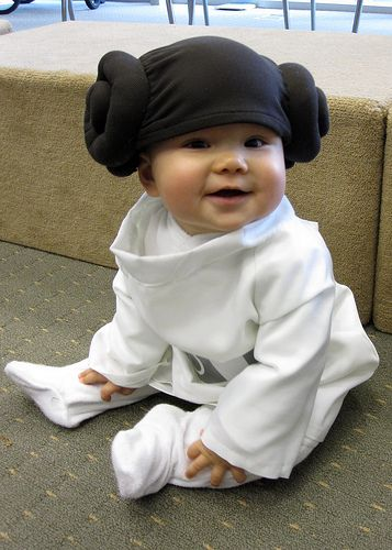 I don't know when yet (maybe when she's a bit older), but one Halloween I'm going to dress my daughter as Princess Leia. I just have to. Lol.
