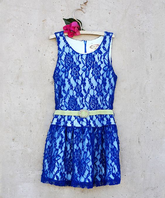 Look at this Blue Ida Belted Dress - Toddler & Girls on #zulily today!